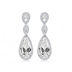 Water Drop CZ Bridal Earrings