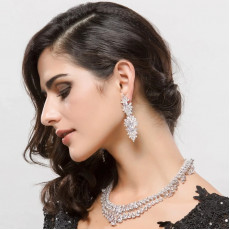 Royal Marquise CZ Diamond Dangle Earrings