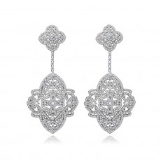Chateau Pave Bridal Earrings