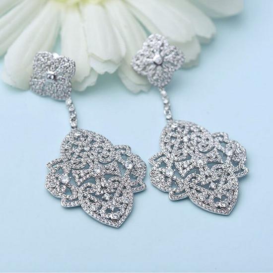 Chateau Pave Bridal Earrings