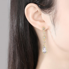 Cinderella Teardrop Earrings, Gold or Silver