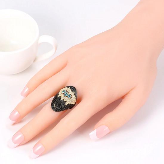 Seagull Gold Sand Black Ring