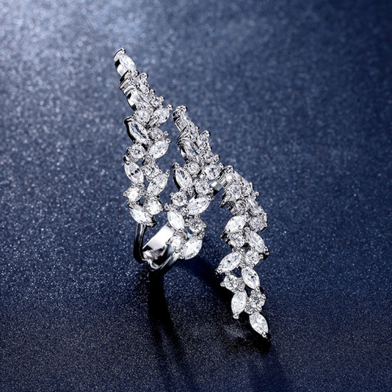 Marquise Leaf Vine Open Ring