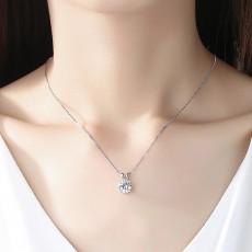 Round cut Cubic Zirconia Pendant Necklace