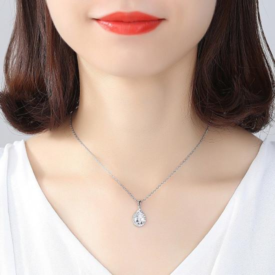 Classic Teardrop Pendant Necklace