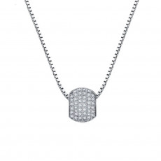 Pave Ball Pendant Necklace