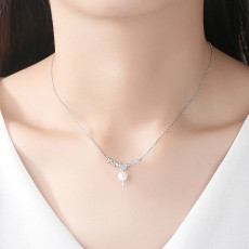Heart Pearl Pendant Necklace