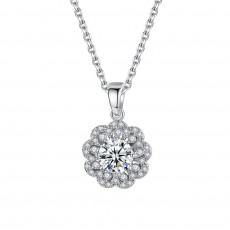 Bridal Flower Pendant Necklace