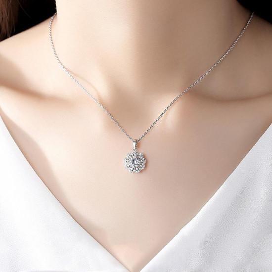 Bridal Flower Pendant Necklace