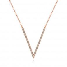 V Shape Pendant Necklace