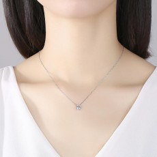 Classic Round Cubic Zirconia Pendant Necklace