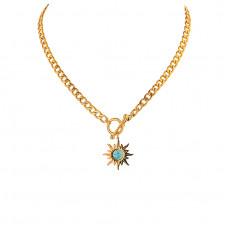 Sunflower T-Bar Necklace