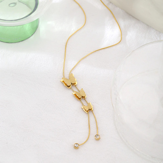 Butterfly Link Pendant Necklace