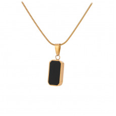 Black And Shell Pendant Necklace