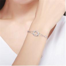 Sterling Silver Heart To Heart Bracelet