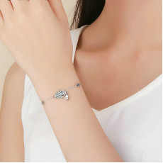 Sterling Silver Hand Of Fatima Bracelet