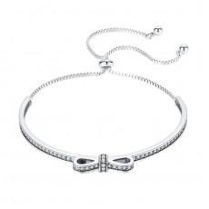 Sterling Silver Bowknot Bracelet