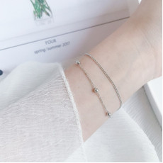 Sterling Silver Double Layers Bracelet