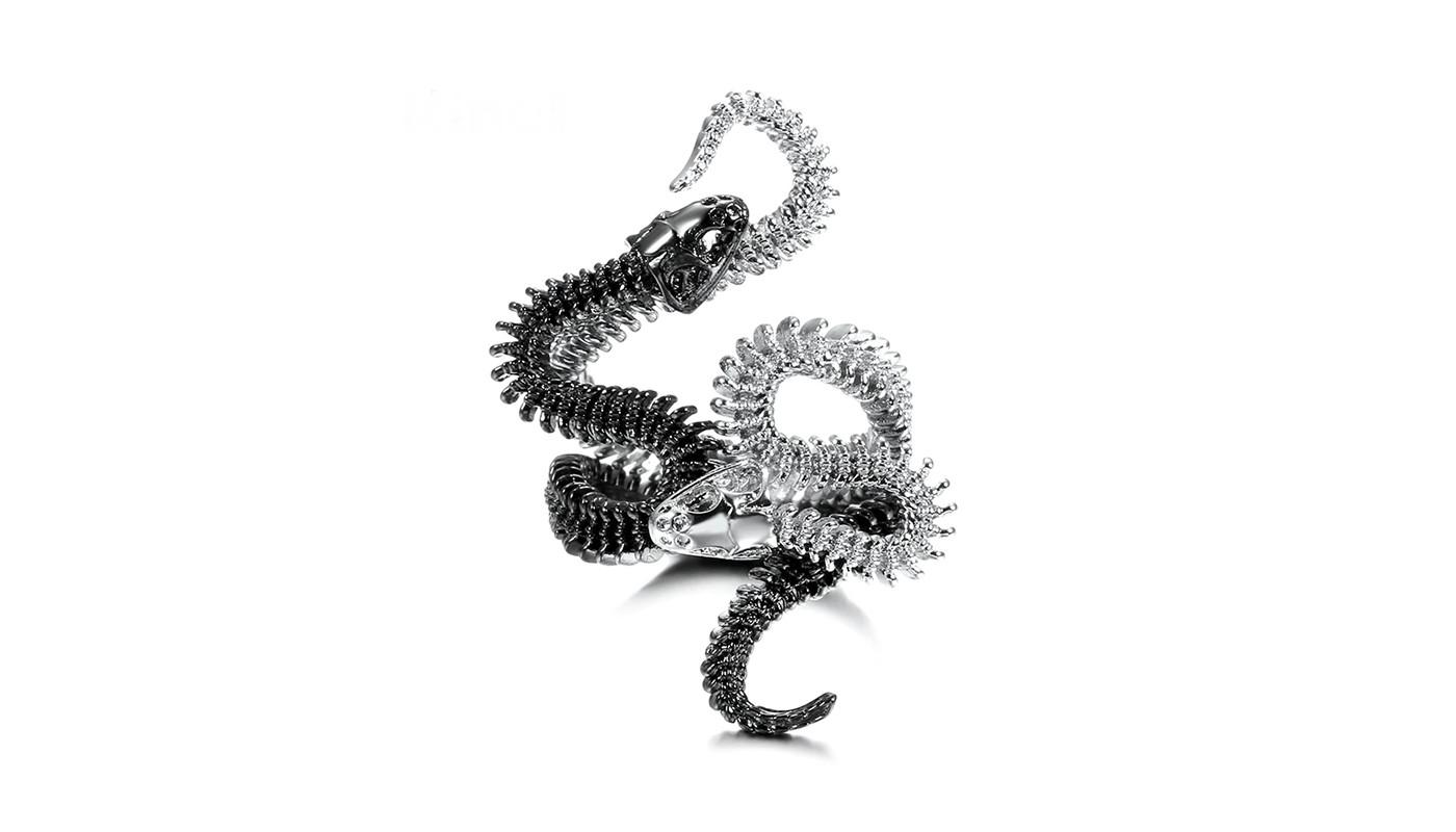 Skeleton Snake Ring