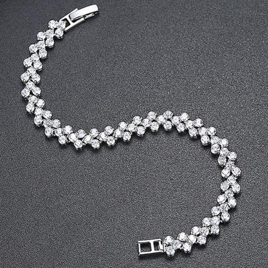Roman Round Tennis Bracelet