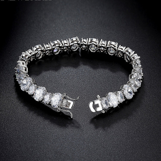 Exquisite Oval Tennis Bracelet