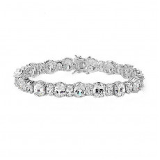 Exquisite Oval Tennis Bracelet