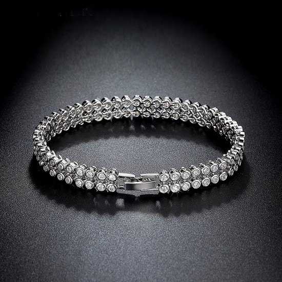 Double Row Round Tennis Bracelet