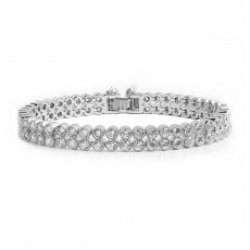 Double Row Round Tennis Bracelet