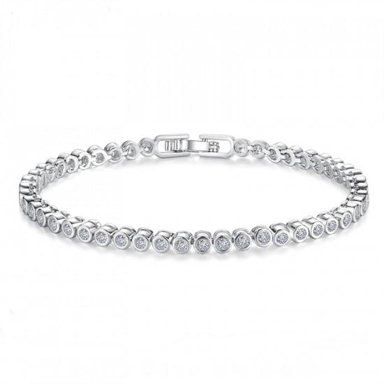 Elegant CZ Diamond Tennis Bracelet