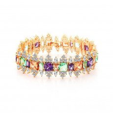 Royal Princess Gold Tennis Bracelet