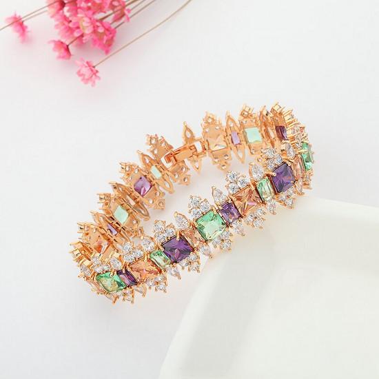 Royal Princess Gold Tennis Bracelet