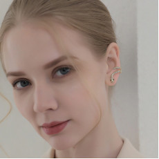 Gold Serpent Stud Earrings