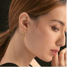 CZ Pave Hoop Earrings