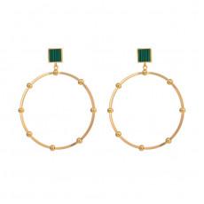 Big Circle Drop Earrings
