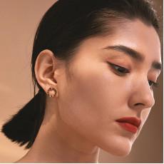 Roman Circle Stud Earrings