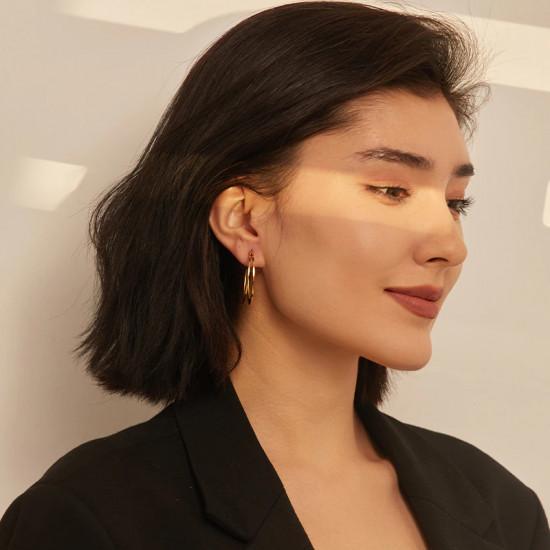 C Shape Hoop Earrings