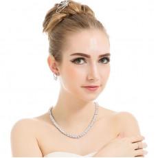 Princess Cut Tennis Necklace
