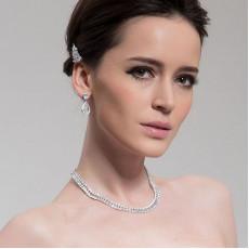 Elegant Teardrop Wedding Necklace