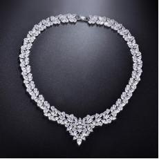 Majestic CZ Diamond Necklace, Wedding Necklace