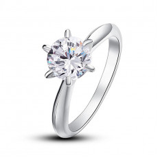 Iconic Six-Prong Solitaire Engagement Ring
