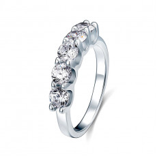 Five Stone Round Anniversary Ring