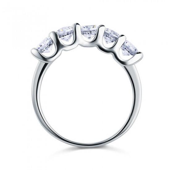 Five Stone Round Anniversary Ring