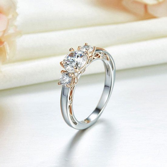 Three Stone Eternal Love Engagement Ring